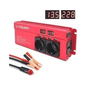 Inverter12V 230V 1000W 4 USB LED 1/3